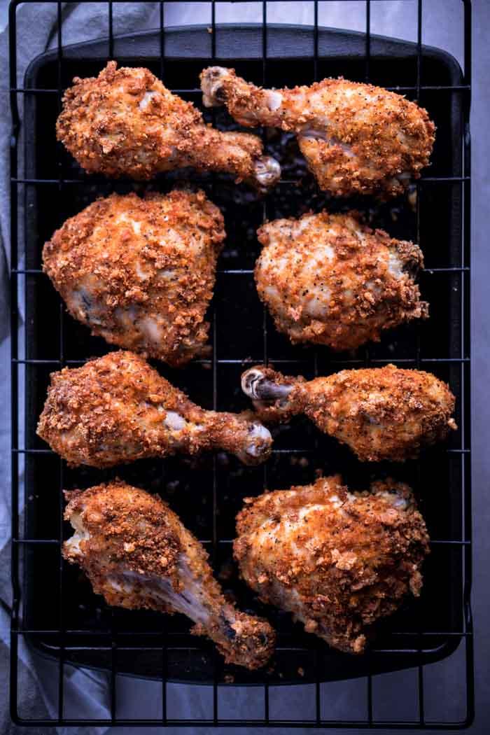 No Flour Egg Wash Chicken