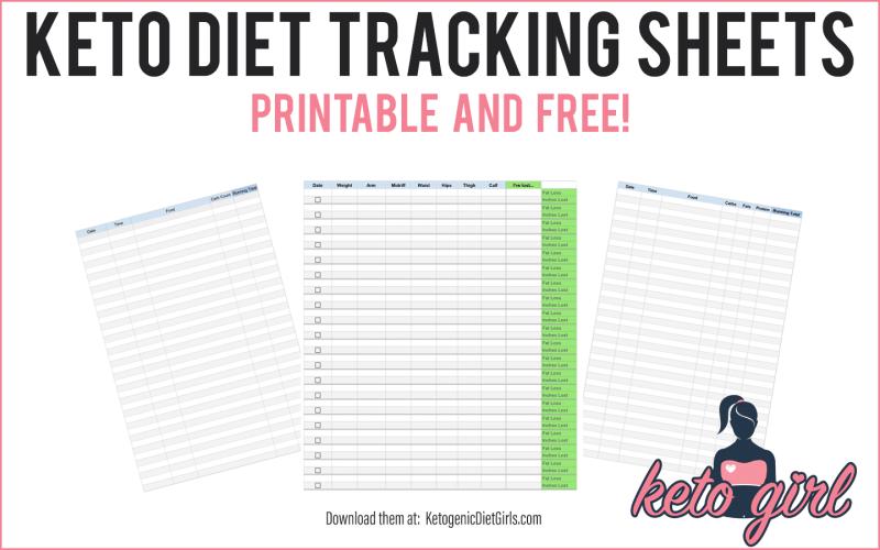 keto diet keto food tracker printable