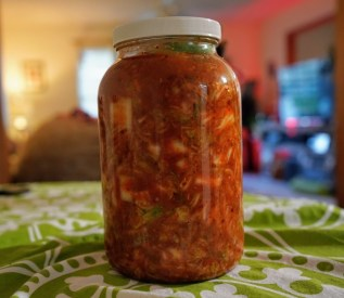 Kimchi has both prebiotics and probiotics