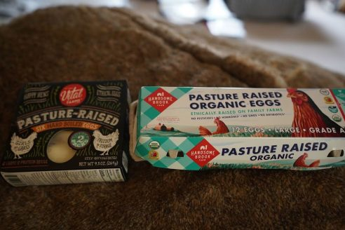 Organic pasture raised eggs are keto friendly
