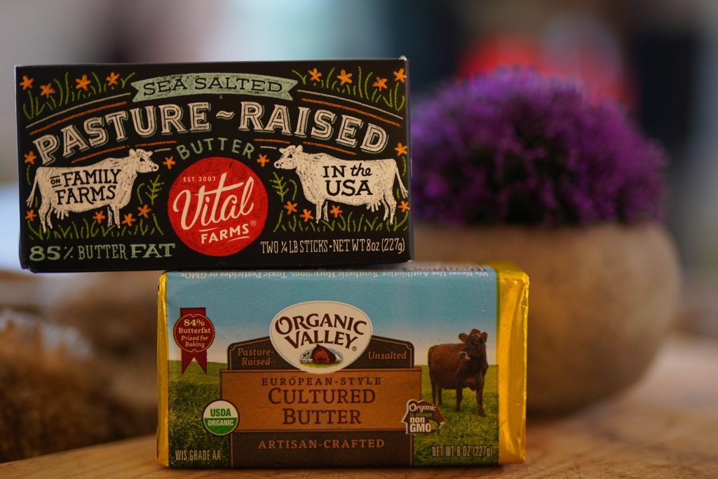 Vital farms and Organic Valley butter