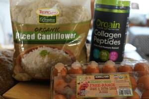 collagen and  cauliflower rice