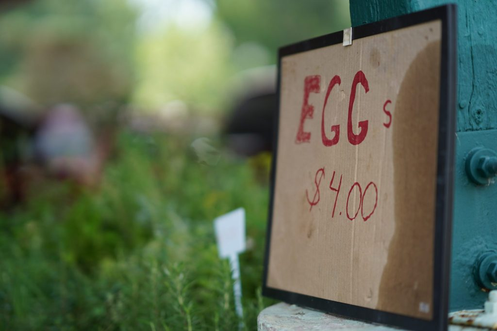 Look for fresh eggs at the farmers market
