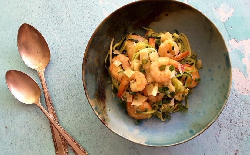 Prawn and Parmesan Zoodles