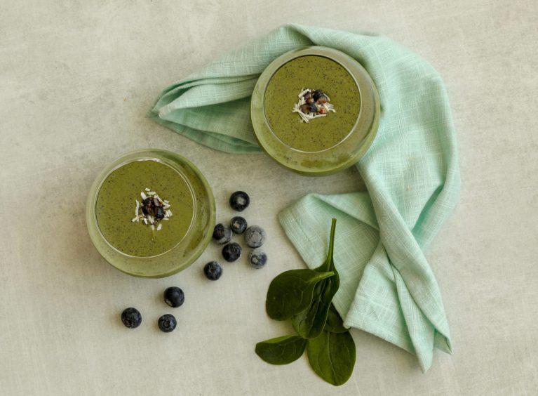 Sugar Free Blueberry Chia Protein Smoothie