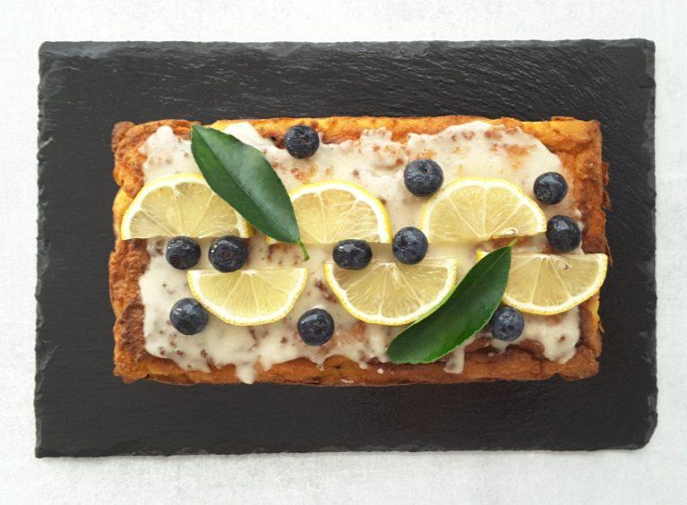 Sugar Free Blueberry Lemon Cake