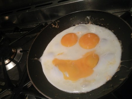 smiley egg