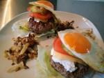 zonnige hamburgers