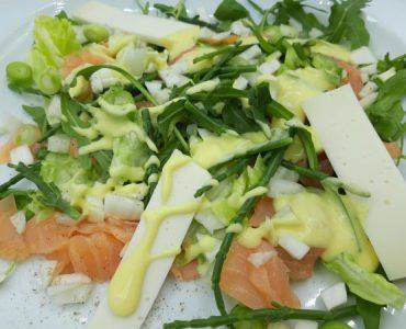 salade gerookte zalm