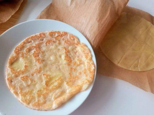 keto tortilla gebakken