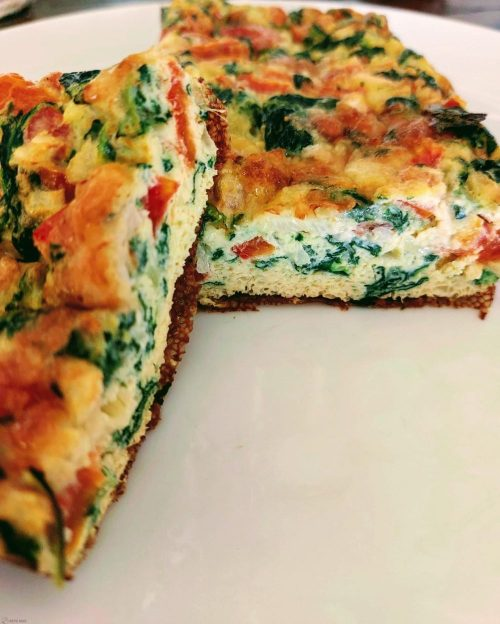 spinazie omelet cake