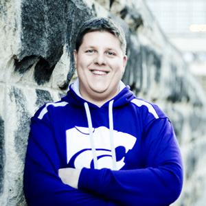 Brent in K-State hoodie