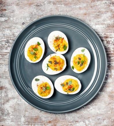 bloody mary keto deviled eggs