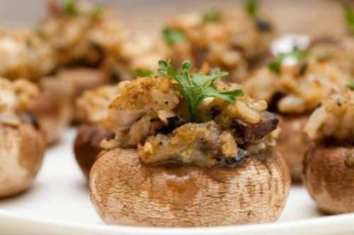 Keto Sausage Stuffed Mushrooms