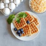 Keto Blueberry Waffle