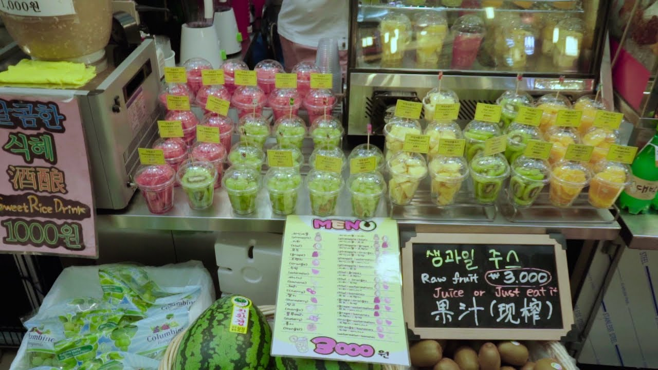 Fruit Juice | Korea Street food | KwangJang Market