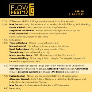 Agenda FlowFest'17