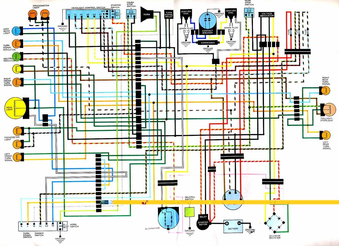 honda cb400 four wiring diagram 1994 ford l9000 schaltplan  kettenritzel cc