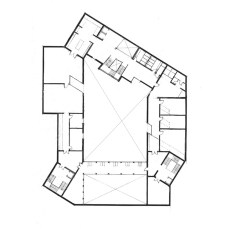 -1: Education spaces, offices, cloaks and study gallery