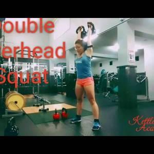 Double Kettlebell Overhead Squat (full demo)