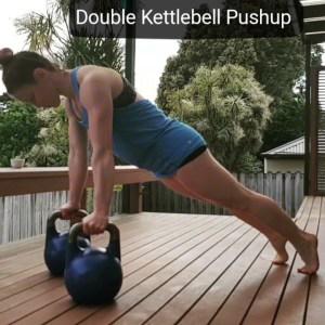 Double Kettlebell Pushup