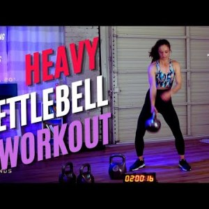 Heavy Single Kettlebell Workout!