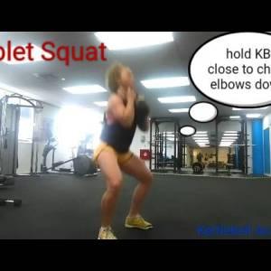 Kettlebell Goblet Squat (demo)