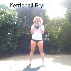 Kettlebell Prying Squat - Instructions