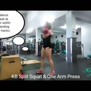 Split Squat and One Arm Press