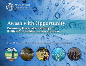 Cover of new report from Polis Water Sustainability Project