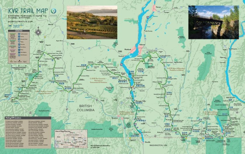 KVR_trail_map_2018 Hope to Christina Lake