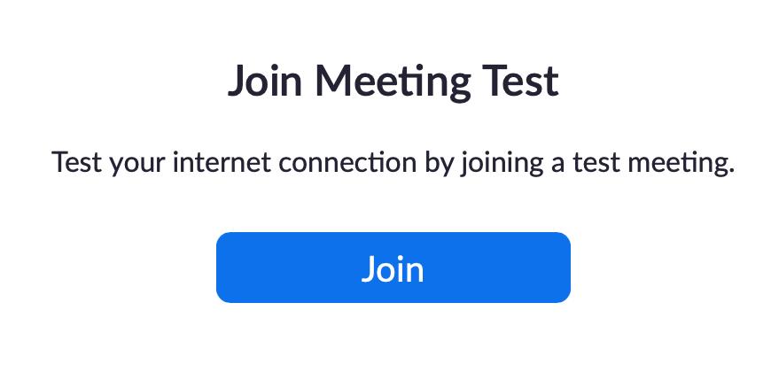 Zoom Test Meeting