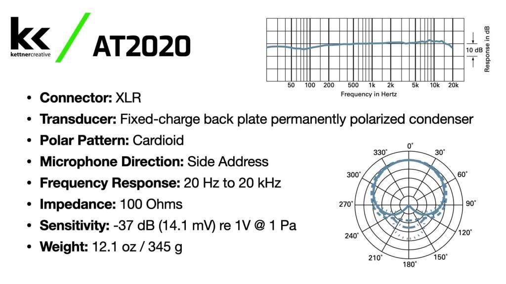 Audio Technica AT2020 Specs