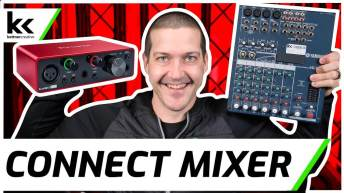 Connect Audio Mixer to Scarlett Solo Audio Interface