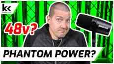 Does Shure MV7 Need 48v Phantom Power?