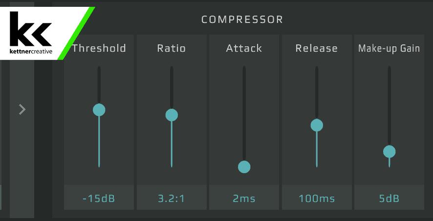 GoXLR Compressor Settings