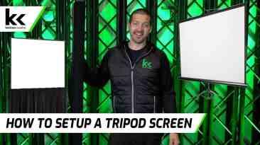 How To Setup A Tripod Projector Screen
