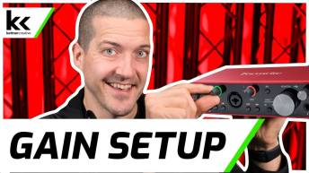How To Setup Gain on Focusrite Scarlett 2i2