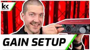 How To Setup Gain on Focusrite Scarlett 2i2