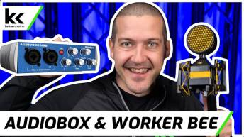 PreSonus AudioBox & NEAT Worker Bee   Setup & Demo