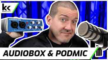 Presonus Audiobox USB 96 & Rode PodMic   Setup & Demo