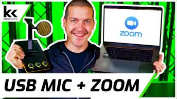 Setup USB Mic For Zoom Video Conferencing