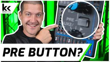What Does PRE Button Do? | Audio Mixer Setup