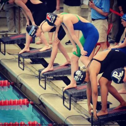 Hannah swimming