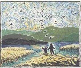 Dépourvu de dialogue, conformément à l'isolement et au mutisme du personnage principal, le premier tome de Fleur multiplie les références à Van Gogh. Quand la vignette devient toile…