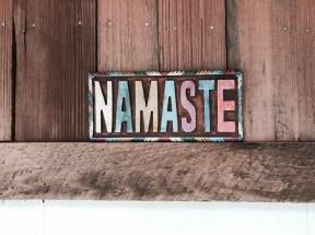 Namaste above the door