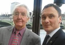 Kevin with Dennis Skinner at the Houses of Parliament