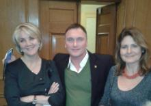 Kevin with Liz Hunt, Associate Editor of the Daily Telegraph and Cristine Odone, former editor of the Catholic Herald and deputy editor for New Statesman now a Daily Telegraph columnist, at the Lord Longford Lecture on 'Drug use in Prison' delivered by author Will Self.