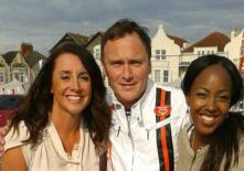 with Lucy Siegle and Angelica Bell, presenters for BBC's The One Show