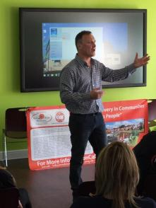 Kevin speaking about recovery from addiction to Red Rose Recovery group in Preston